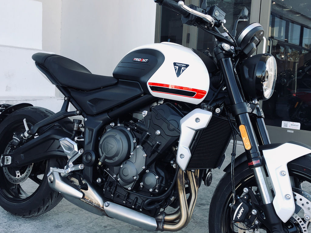 2022 triumph trident 660 crystal white for sale in las vegas