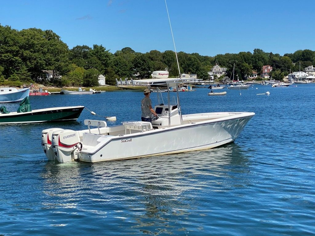 2002 Seacraft boat for sale, model of the boat is 25 Open Fisherman & Image # 2 of 8