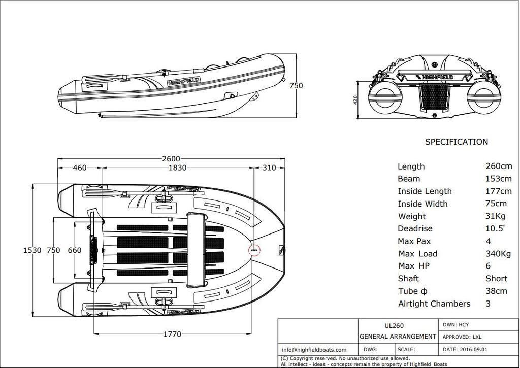 2021 Highfield boat for sale, model of the boat is UL 260 & Image # 8 of 8