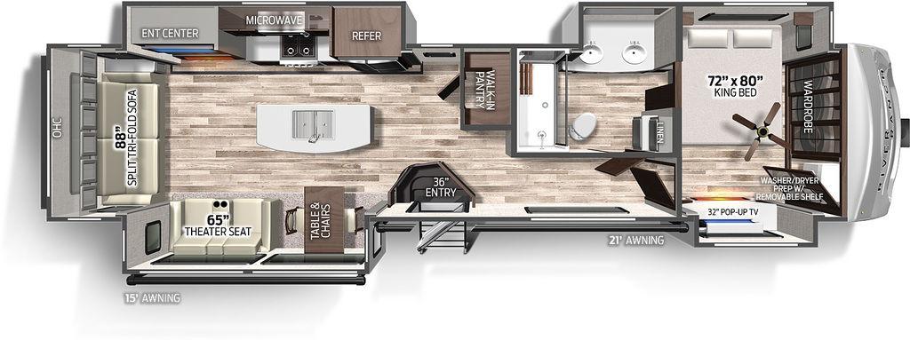 2021 Forest River Columbus River Ranch 390RL