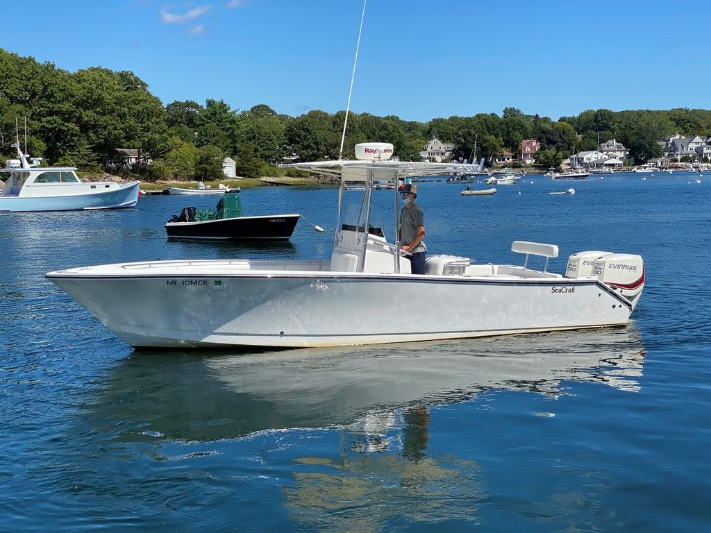 2002 Seacraft boat for sale, model of the boat is 25 Open Fisherman & Image # 1 of 8