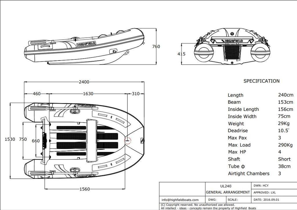 2021 Highfield boat for sale, model of the boat is UL 240 & Image # 3 of 7