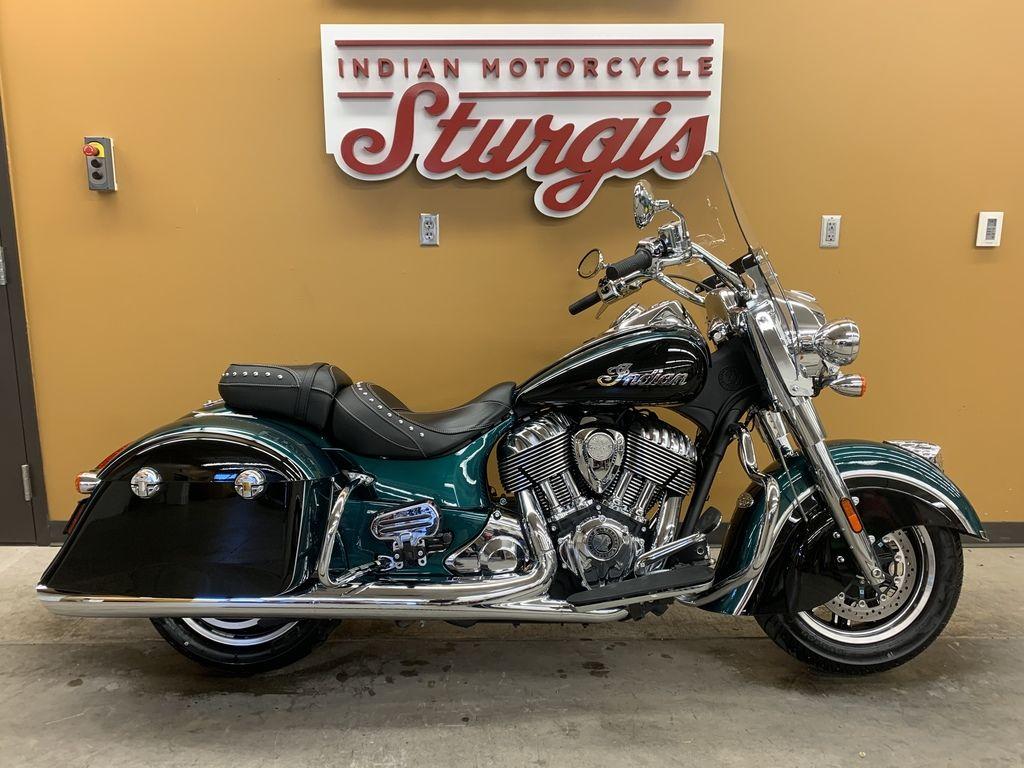 2019 Indian Motorcycle® Springfield® Metallic Jade / Thunder Black