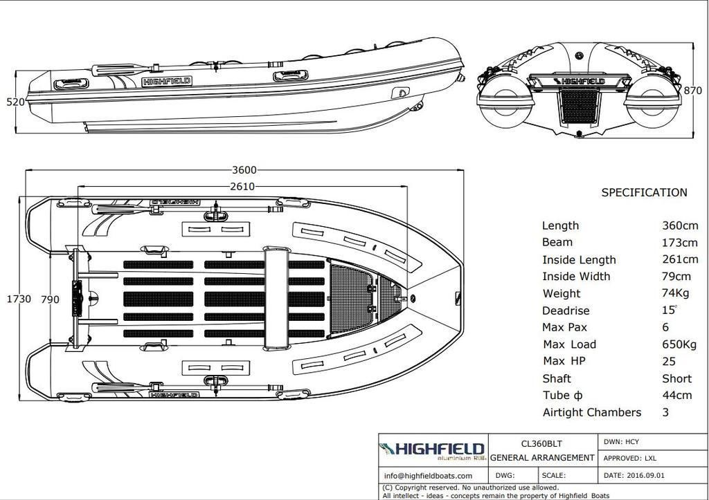 2020 Highfield boat for sale, model of the boat is CL 360 & Image # 9 of 9