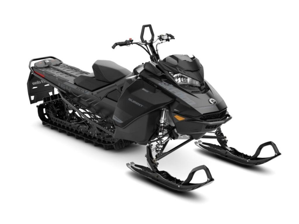 New 2020 Ski-Doo Summit® SP Rotax® 850R E-TEC® 154 SS PowderMax L. 3.0 Black Crossover