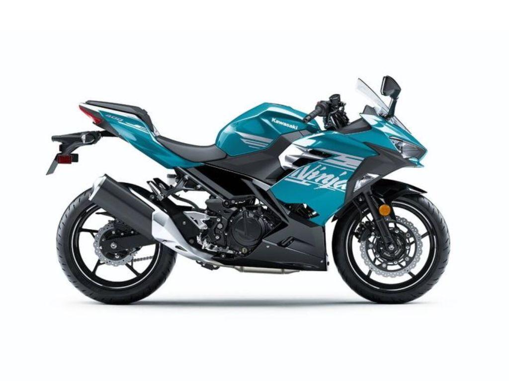 2021 Kawasaki Ninja® 400  Pearl Nightshade Teal/Metallic Spark Black