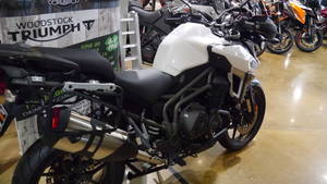 2017 triumph tiger explorer xrt crystal white stock: | woodstock