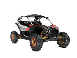 2019 Maverick X3 X RS TURBO R Gold Can-Am Red Hyper Sil