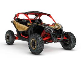 New  2018 Can-Am® Maverick X3 X RS TURBO R Gold & Can-Am Red Golf Cart / Utility in Roseland, Louisiana
