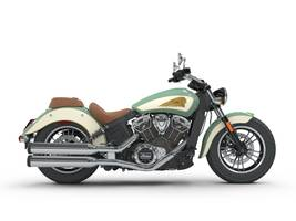 2018 Scout ABS Willow Green Ivory Cream Gold Pinstripe