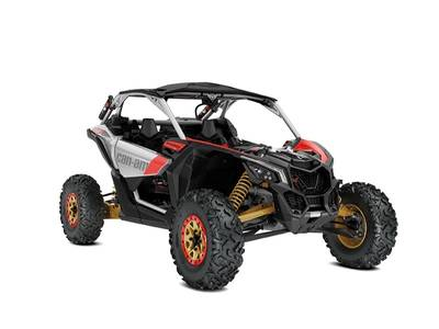 2019 Can-Am ATV Maverick™ X3 X™ RS TURBO R Gold & Can-Am Red & Hyper Silver | 1 of 2
