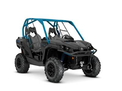 2019 Can-Am ATV Commander™ XT™ 1000R Carbon Black & Octane Blue