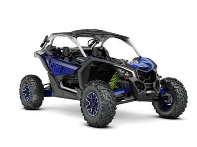 2020 Can-Am ATV Maverick™ X3 X™ rs Turbo RR Hyper Silver, Intense Blue & Manta Green