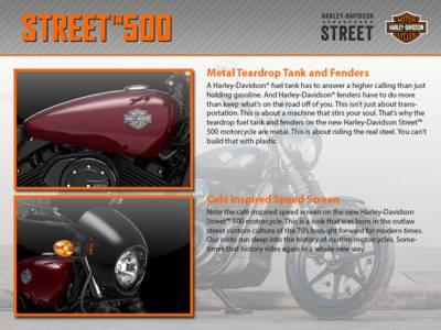 2015 Harley-Davidson® Street™ 500 Base | Iron Town HD® | New