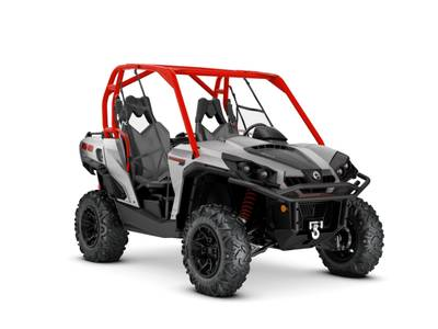 2018 Can-Am ATV Commander™ XT™ 800R Brushed Aluminum & Can-Am Red