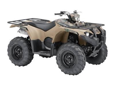 2018 Yamaha Kodiak 450 EPS Beige with camo graphics (steel wheels)