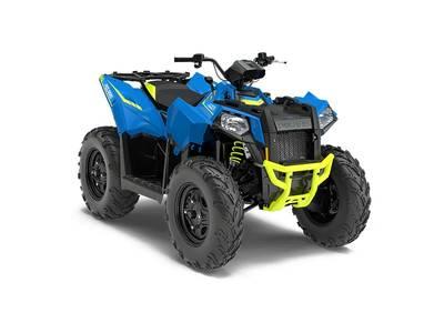 New  2018 Polaris® Scrambler® 850 Velocity Blue ATV in Roseland, Louisiana