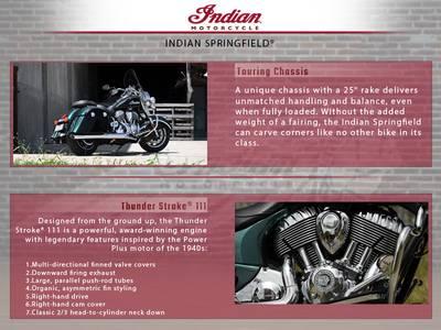 2018 Indian Motorcycle® Springfield® ABS Metallic Jade over Thunder