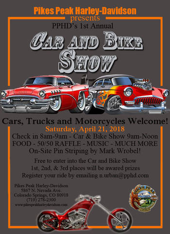 Event Calendar Colorado Springs HarleyDavidson Calendar - Old school car show colorado springs
