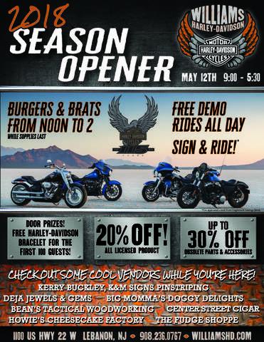 Calendar Events | Williams Harley-Davidson® | Lebanon New Jersey