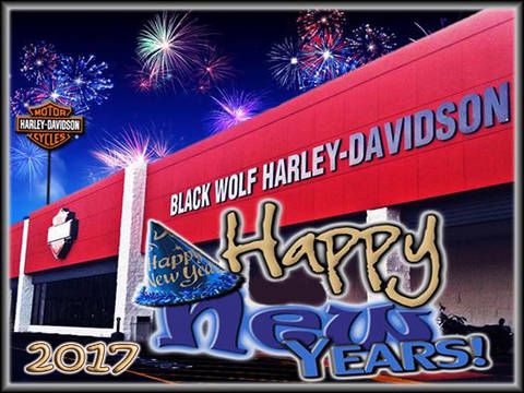 happy new years black wolf harley davidson will be closed to celebrate the new year please be safe as you celebrate