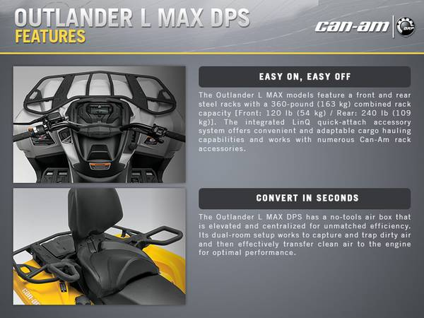 2015 Can-Am® Outlander™ L MAX™ DPS® | RideNow Concord