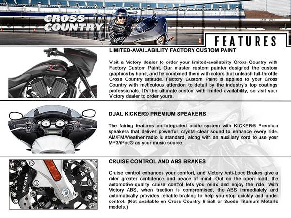 2015 Victory Motorcycles® Cross Country™ | Abernathy's Cycles