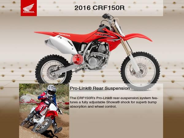 2016 Honda® CRF150R   Champions Honda® Kawasaki