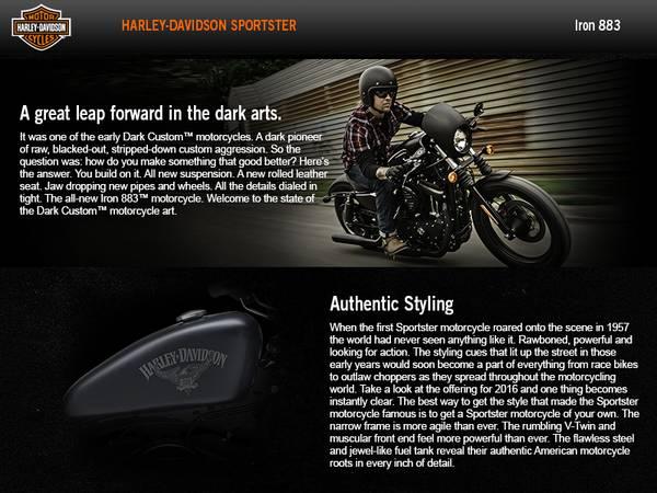 2016 Harley-Davidson® Sportster® Iron 883™   Black Diamond HD®