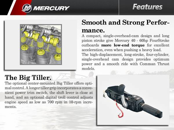 2016 Mercury Marine® 50 hp | Zacho Sports Center
