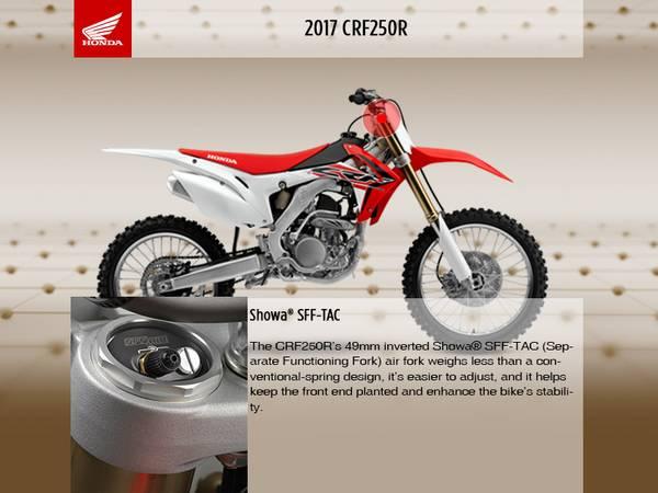 2017 Honda® CRF250R | Honda East Toledo