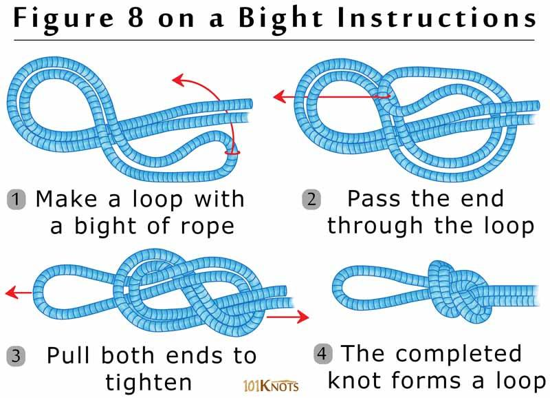 hot to tie a figure eight knot