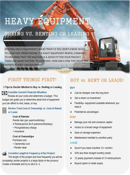 Lease Vs Rent >> Buying Vs Renting Or Leasing Heavy Equipment Best Line