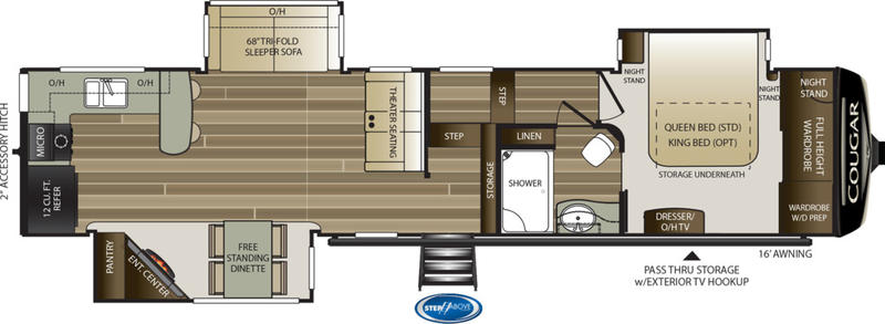 2019 Keystone RV Cougar 362RKS | New Generation RV on heat pump thermostat diagram, honeywell thermostat installation diagram, rv thermostat replacement, rv thermostat duo therm air conditioner, home thermostat diagram, hvac thermostat diagram, thermostat connection diagram, rv thermostat wiring color code, rv wall thermostat, circuit diagram, how a thermostat works diagram, rv comfort coleman mach thermostat, 3 wire thermostat diagram, rv thermostat cover, rv ac thermostat wiring, rv wiring schematics, rv furnace thermostat wiring, rv air conditioning diagram, rv refrigerator diagram, rv thermostat upgrade,