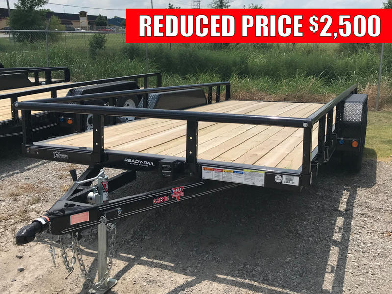 2019 pj trailers 16 ft 83 tandem axle channel utility ul t22498 nationwide trailers. Black Bedroom Furniture Sets. Home Design Ideas