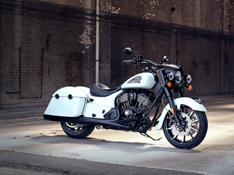 2019 Indian Motorcycle® Springfield® Dark Horse® White Smoke