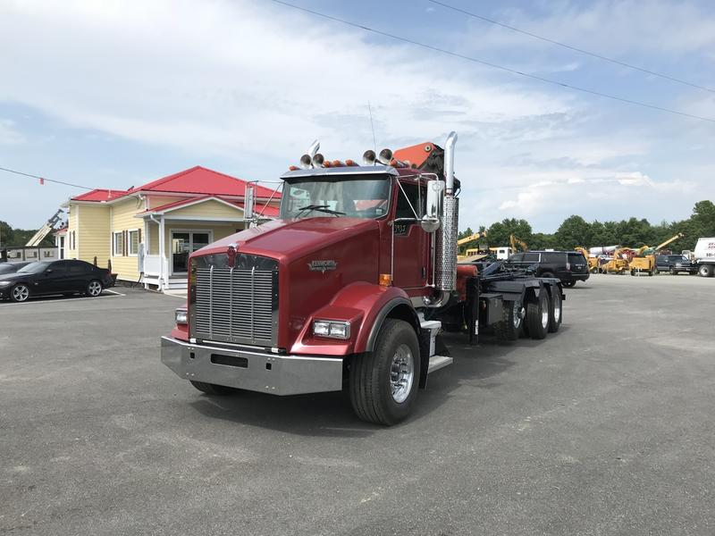 USED 2005 KENWORTH T800 HOOKLIFT ROLL-OFF TRUCK #565862