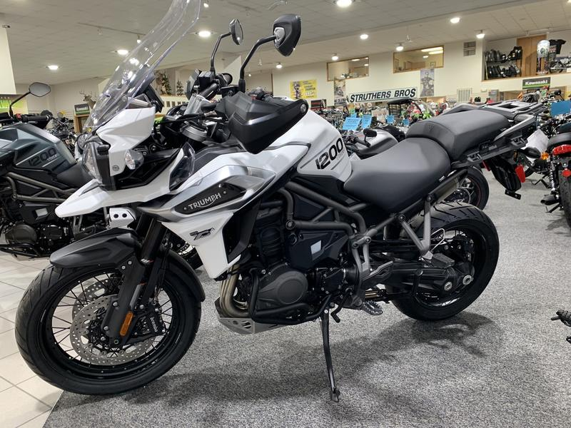 Superb 2018 Triumph Tiger 1200 Xca Crystal White Struthers Bros Onthecornerstone Fun Painted Chair Ideas Images Onthecornerstoneorg