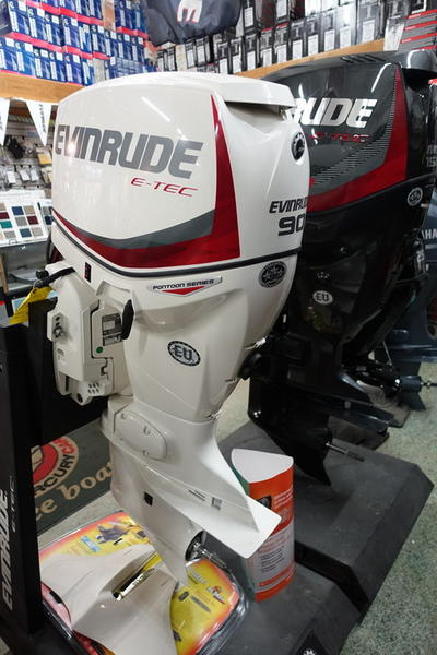 Evinrude Pontoon 90-HP E90SNL Stock: 05467934 | Camp & Cruise
