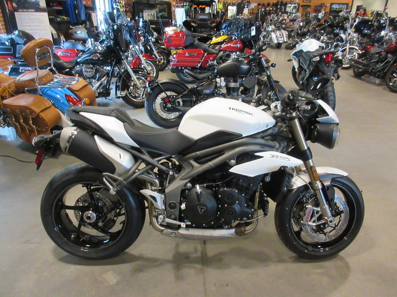 2019 Triumph Speed Triple S Crystal White Baker American Cycles