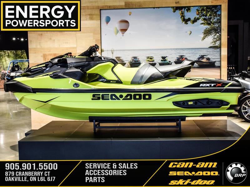 2019 Sea Doo PWC boat for sale, model of the boat is RXT®-X® 300 IBR & Sound System Neon Yellow and Lava Grey & Image # 2 of 15