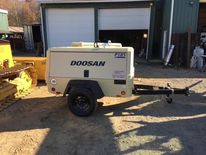 USED 2016 DOOSAN P185WDO-T4F AIR COMPRESSOR EQUIPMENT #578696