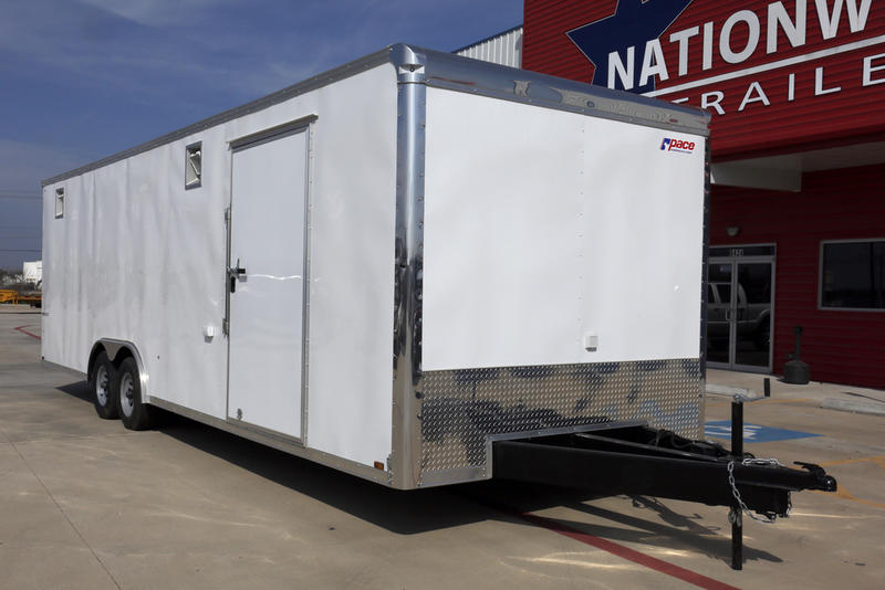 2019 spartan cargo trailers 8 5 x 24 tandem axle race trailer h27488 nationwide trailers. Black Bedroom Furniture Sets. Home Design Ideas