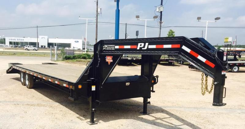 pj trailers  ft classic gooseneck flatbed wsingles trailers  nationwide trailers