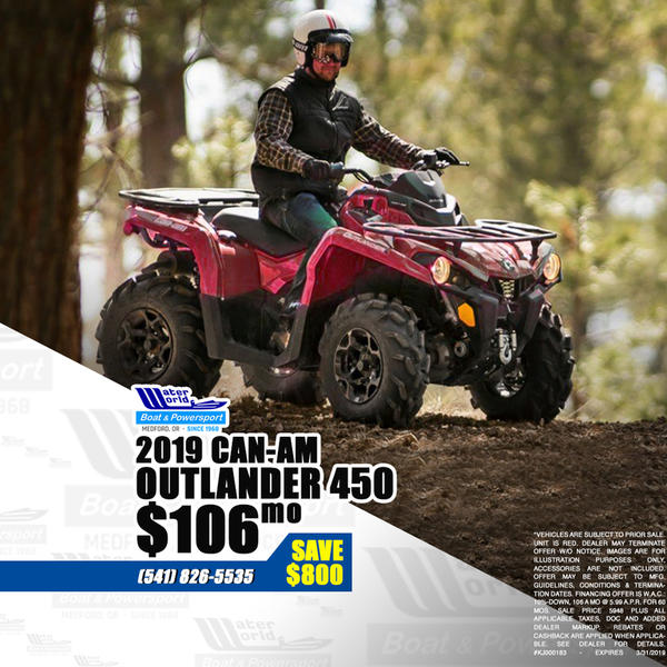 2019 Can-Am Outlander 450 for sale 64714