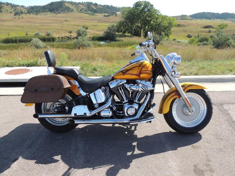 Cool 2003 Harley Davidson Flstf Fat Boy Hkt001B Black Hills Creativecarmelina Interior Chair Design Creativecarmelinacom