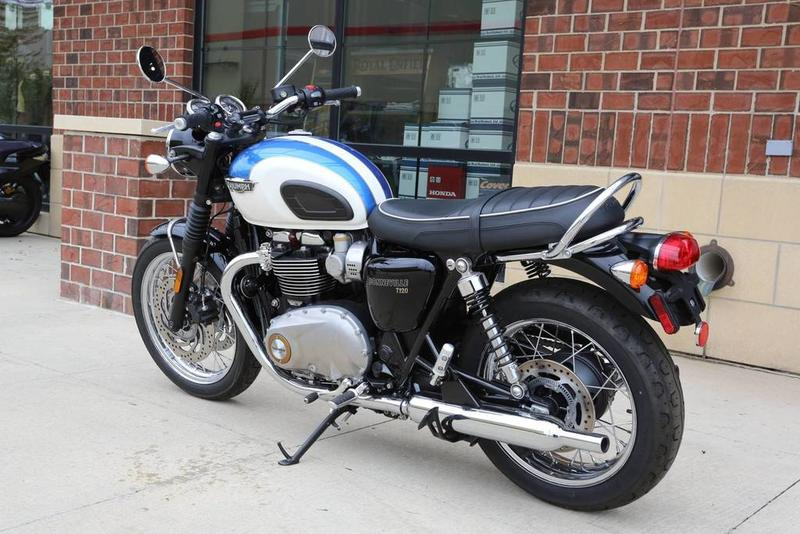 Peachy 2019 Triumph Bonneville T100 Fusion White And Aegean Blue Spiritservingveterans Wood Chair Design Ideas Spiritservingveteransorg