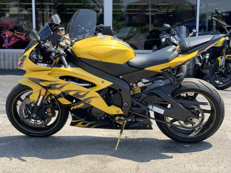 2008 Yamaha YZF-R6 Cadmium Yellow w Flames for sale 153306