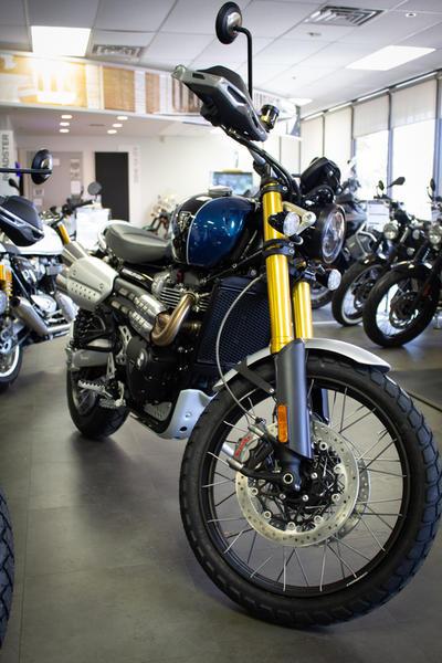 2019 Triumph Scrambler 1200 XE Cobalt Blue | BMW Motorcycle