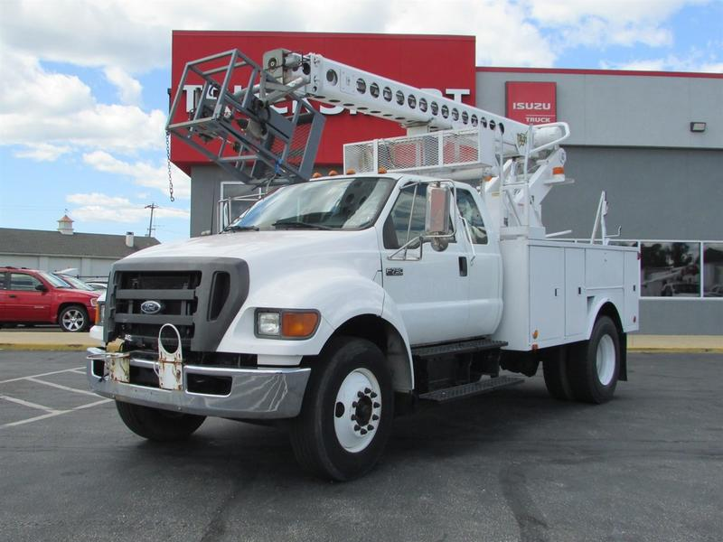 2005 Ford F750 Super Duty Cable Placing Bucket Truck Service - Utility Truck